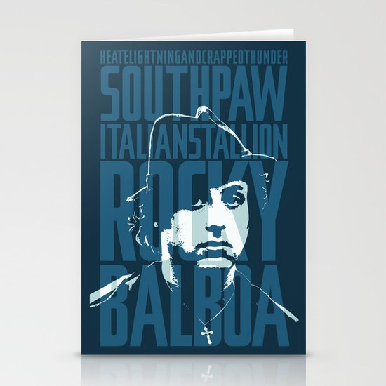 Rocky Balboa Minimal Vector Film Poster Stationery Cards