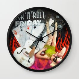Rockabilly - Rock n Roll Friday Wall Clock