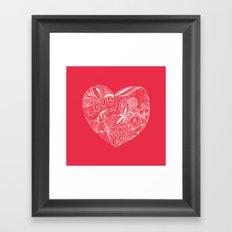 Floral heart for Valentines day Framed Art Print