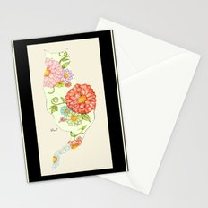 Elegant Kitty Silhouette Sandy Stationery Cards
