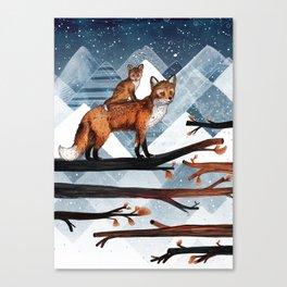 Fox Wood Canvas Print