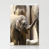 baby elephant Stationery Cards featuring Baby Elephant by Päivi Vikström