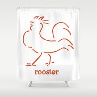 rooster Shower Curtains featuring Rooster by Statement