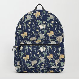 Spring Garden - navy blue Backpack