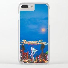 Las Vegas Fremont Street Downtown Clear iPhone Case