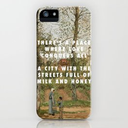 Camille Pissarro, Houses at Bougival (Autumn) (1870) / Halsey, Good Mourning (2017) iPhone Case