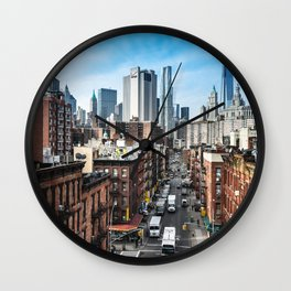 chinatown in nyc Wall Clock