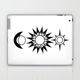 The Moon The Sun and The Stars with Zodiac Signs Laptop & iPad Skin
