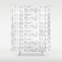 teen wolf Shower Curtains featuring Teen Wolf - Wake Up by Cammerel