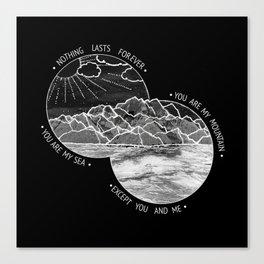 mountains-biffy clyro (black version) Canvas Print