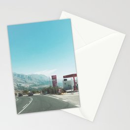 Gas Station Stationery Cards