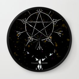 A Tarot of Ink 10 of Pentacles Wall Clock