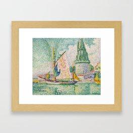 """Paul Signac """"Tour des Quatre Sergents, La Rochelle"""" Framed Art Print"""