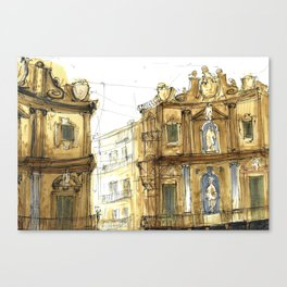 Old Palermo Canvas Print