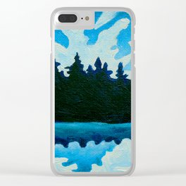 Blue Totem No.2 Clear iPhone Case