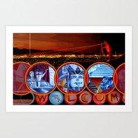 sin city Art Prints featuring Sin City by Rishi Parikh