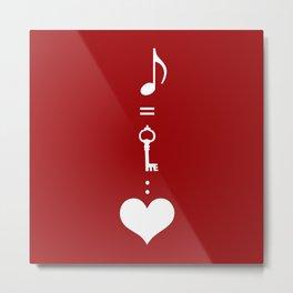 Music is key to heart Metal Print