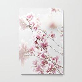 MAGNOLIA WHITE PINK Metal Print