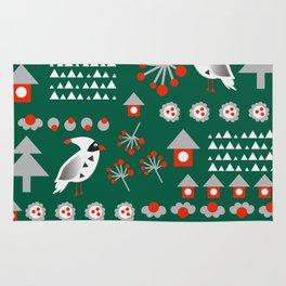 Winter cardinals Rug
