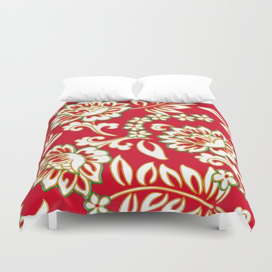 Tropical Eggnog Punch Duvet Cover