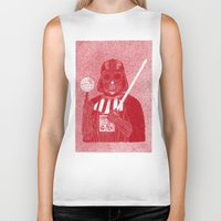 darth vader Biker Tanks featuring Darth Vader by David Penela