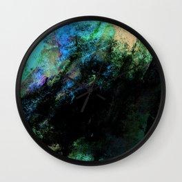 STORMY BLACK & GREEN Wall Clock