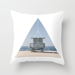 Beach Life  Geometric Photography Throw Pillow