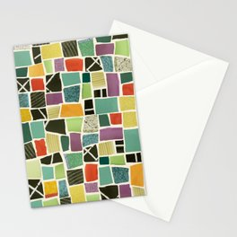 Square On Mosaic Stationery Cards