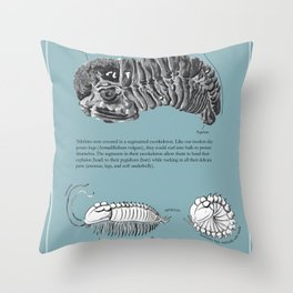 Trilobite Enrollment poster Throw Pillow