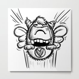 Buzzy Monster Metal Print