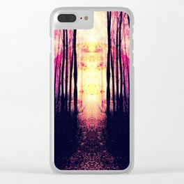Path to Imagination : Mauve Pink Purple Clear iPhone Case
