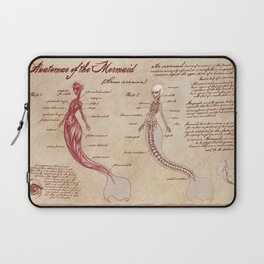 Anatomy of the Mermaid Laptop Sleeve