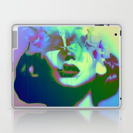 Glitch Flower Girl Laptop & iPad Skin