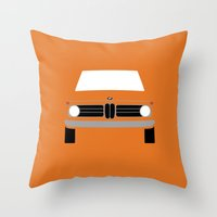 bmw Throw Pillows featuring BMW 2002 by Nick Steen