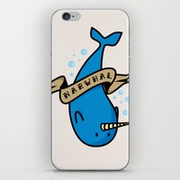 narwhal iPhone & iPod Skins featuring Narwhal by Katie Bell