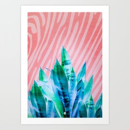 Greenish blue plants 02 Art Print