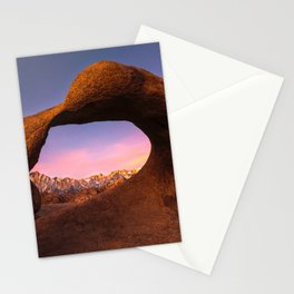 Mobius Arch Sunrise  2-12-16  Stationery Cards