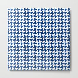 Blue Classic houndstooth pattern Metal Print