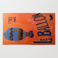 ballon Area & Throw Rugs featuring Le Ballon 1783 by La La Land Studio