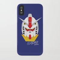 gundam iPhone & iPod Cases featuring Gundam Material by IOSEF