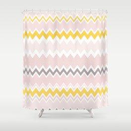 Chevron pattern soft colors Shower Curtain