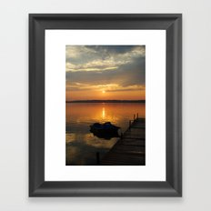 Sunset paddle Framed Art Print