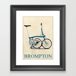 Brompton Bike Framed Art Print