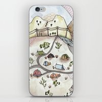 camp iPhone & iPod Skins featuring Desert Camp by Brooke Weeber