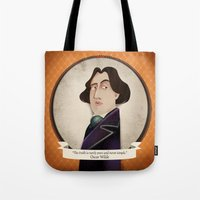 oscar wilde Tote Bags featuring Oscar Wilde said... by Mrs Peggotty