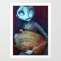 ouija Art Prints featuring Ouija by CottonValent