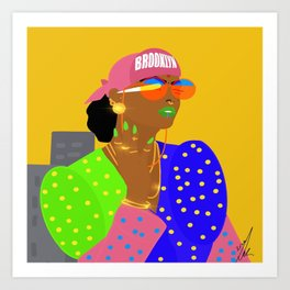 Brook and Lyn Art Print