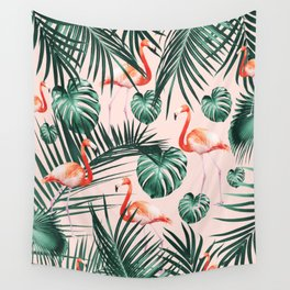 Tropical Flamingo Pattern #2 #tropical #decor #art #society6 Wall Tapestry