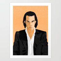 nick cave Art Prints featuring Nick Cave by Andy Rogerson