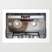 punk rock Art Prints featuring PUNK ROCK by The Family Art Project